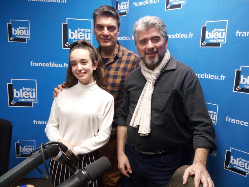 Hervé MIchel avec Philippe Garcia et Emma