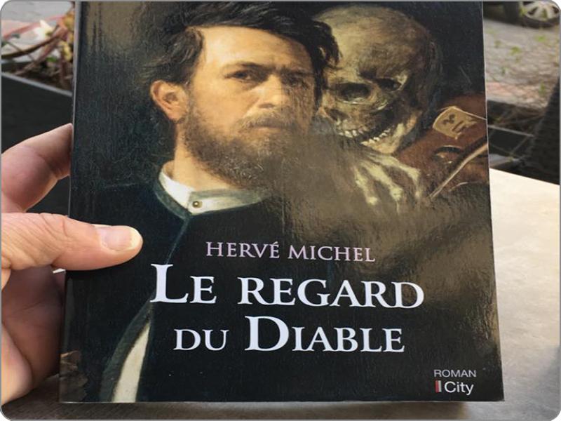 Article de presse sur le roman de hervé michel, le regard du diable