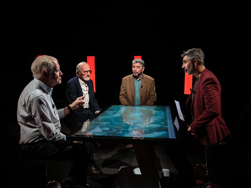 De G à D : Jean-Pierre Joncheray, Robert Stenuit, Hervé Michel, Luc Mondoloni.